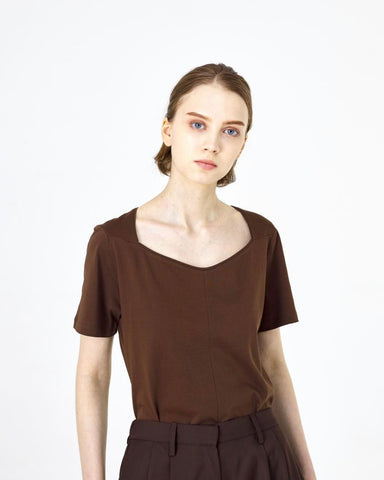 Structure Neckline Top