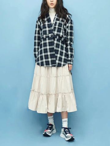 Double Layer Checker Shirt