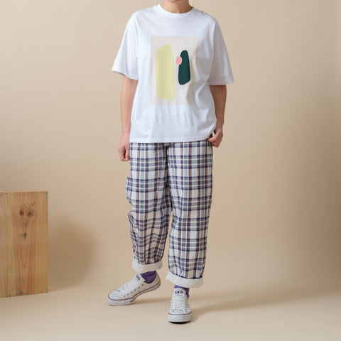 Turn Hem Checker Pants