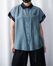 Two Tone Silky Shirt