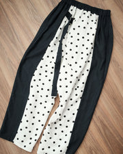 Polka Dot Linen Pants