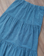 Washed Comfort Skirt (Blue)