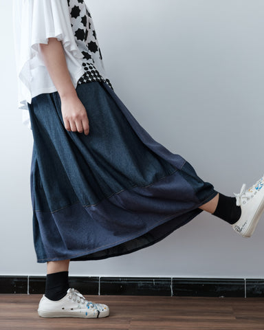 Fabric Mix Cutting Skirt