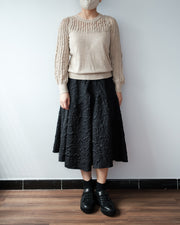 Embossed Black Skirt