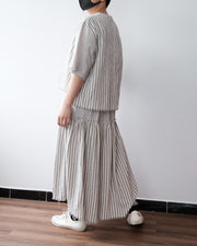 Raw Edge Stripe Skirt