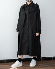 Double Collar Shirt Dress/Jacket