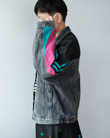 Sporty Windbreaker x Denim Jacket