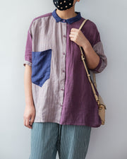 Patchwork Linen Shirt