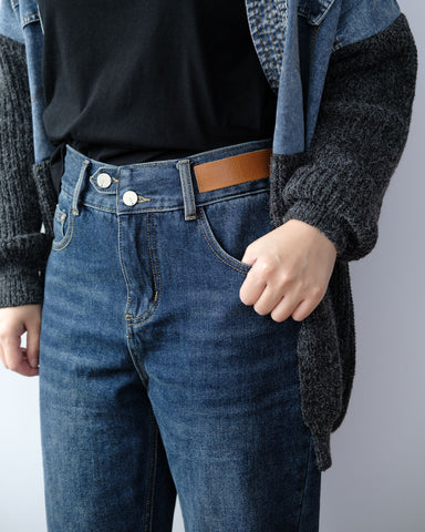 Leather Badge Jeans