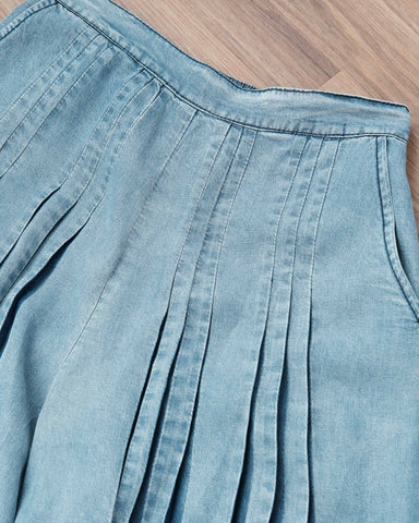 Tone On Tone Denim Culottes