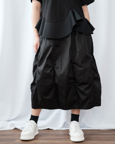 Ruched Ballon Skirt