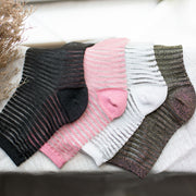 Lurex Striped Sock