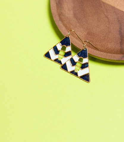 Marine Triangle Shape Earrings