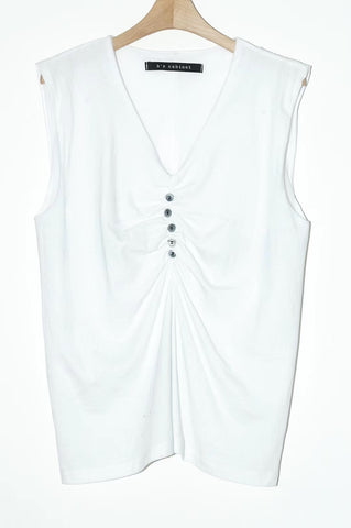 V Neck Button Vest