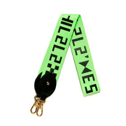 WEBBING SHOULDER STRAP _ NEON GREEN - LOGO
