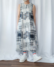 Patchwork Sleeveless Dress