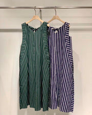 Pinstripe Sleeveless Dress
