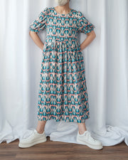 Back Cut Out Pattern Dress