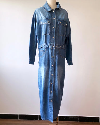 Snap Buttons Denim Dress/Jacket