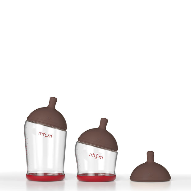 starter baby bottle set - darker nipple