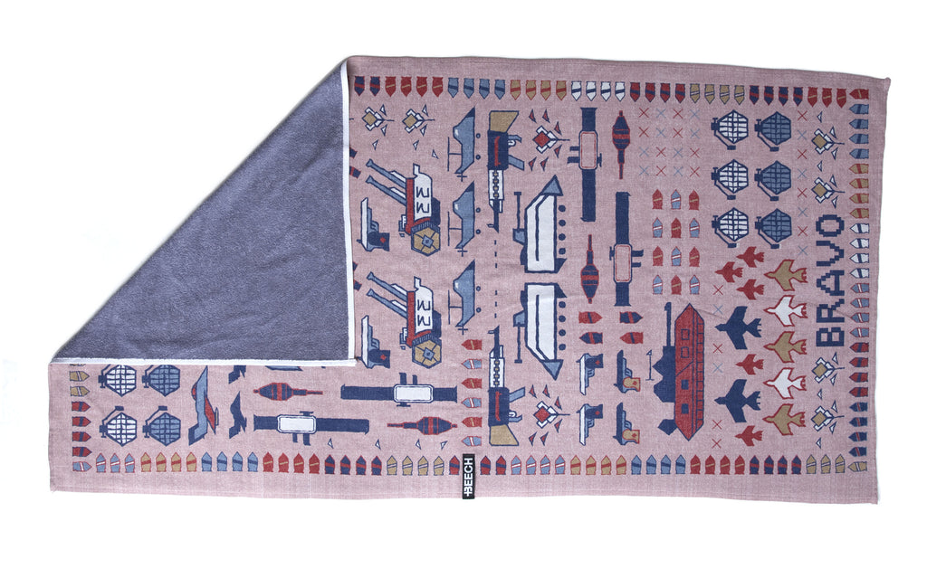 "War Rug ""Reverse Indigo"" Dual-Strength Technology"