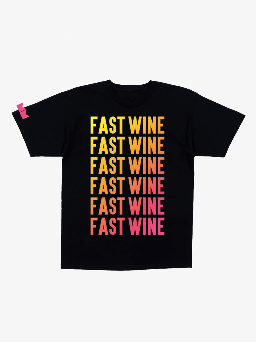 Fast Wine Short Sleeve Tee- Black