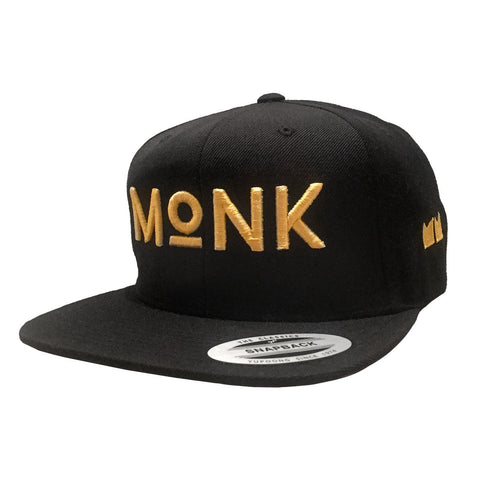 MONK Snapback - Black/Gold