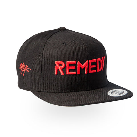 REMEDY Snapback - Black/Red