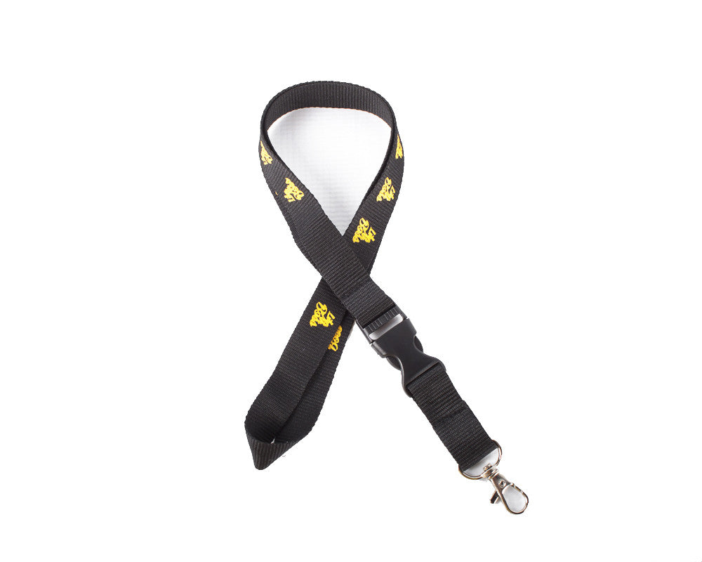 Like Ah Boss Lanyard keychain black and Gold