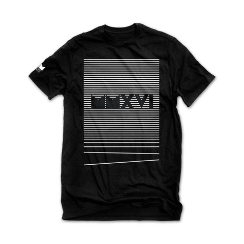 MMXVI Stripes Tee - Black