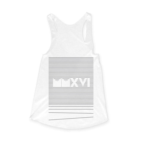 MMXVI Stripes Tank - White
