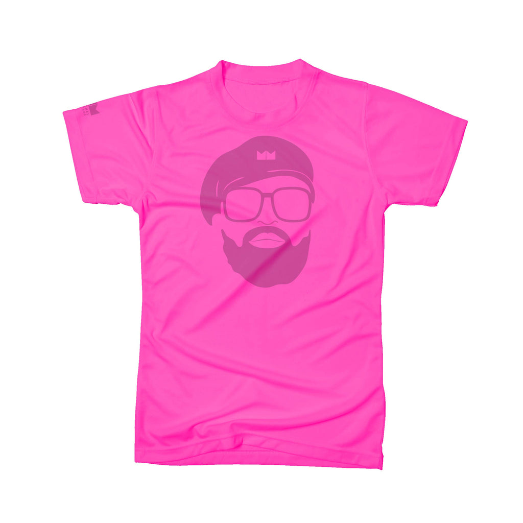 MM Face Tee – Neon Pink