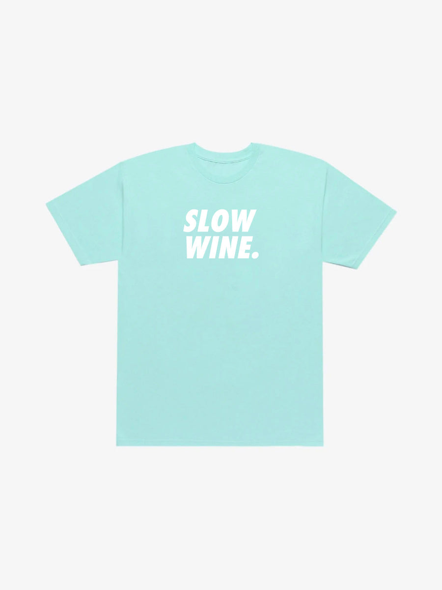 Slow Wine Tee - Powder Blue