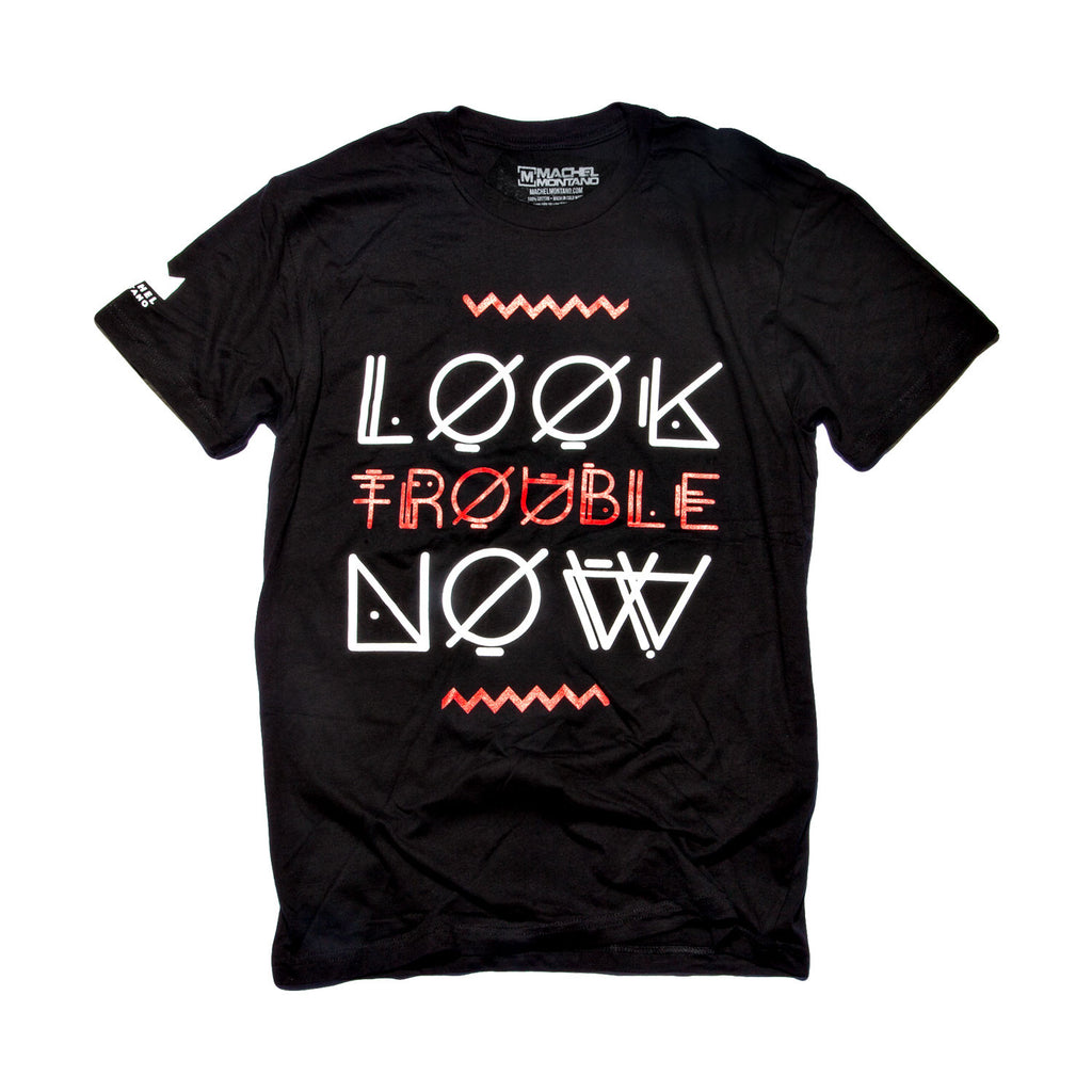 Look Trouble Now - Black/Red