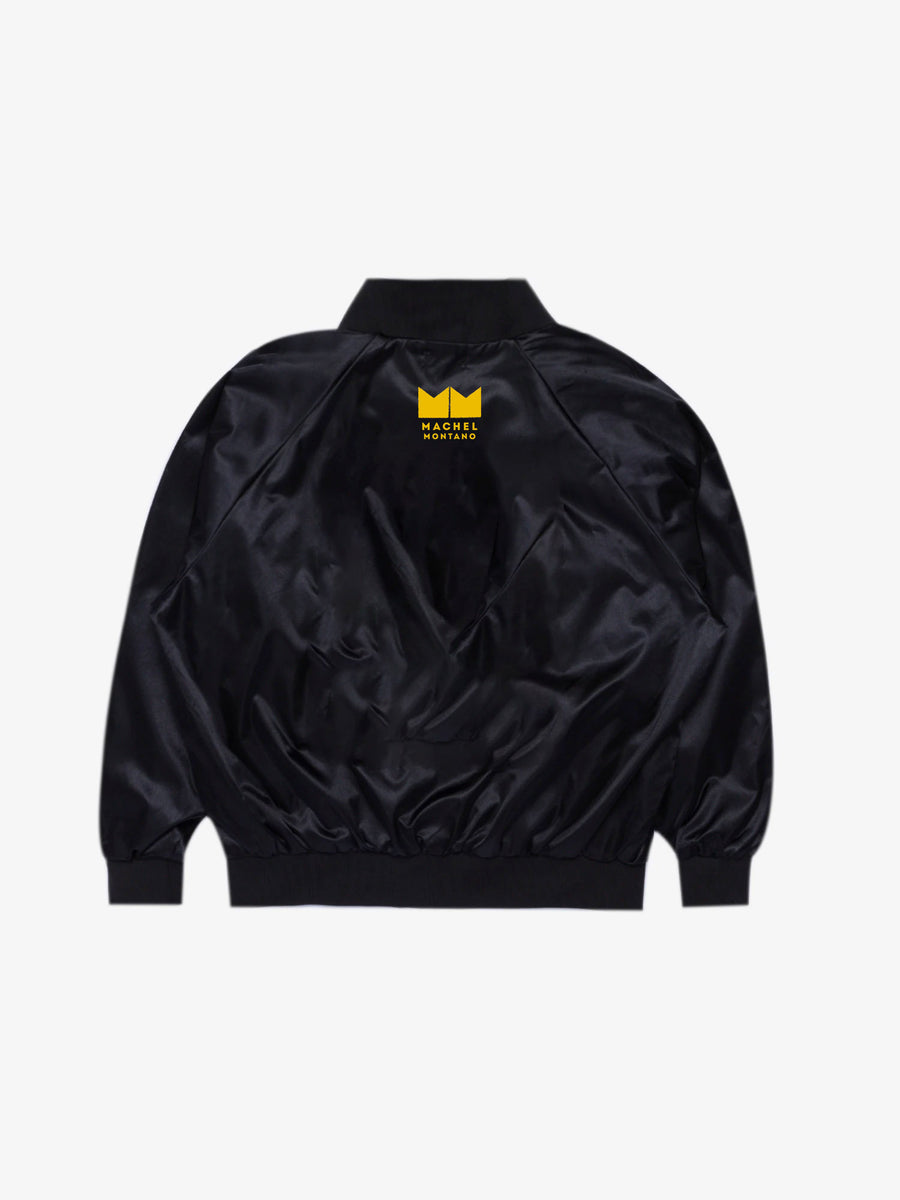 MONK Bomber Jacket - Black/Yellow