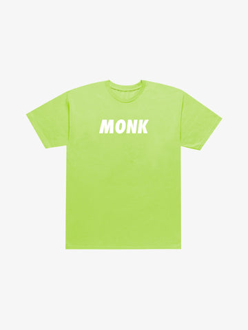 MONK Large Logo Tee - Safety Green