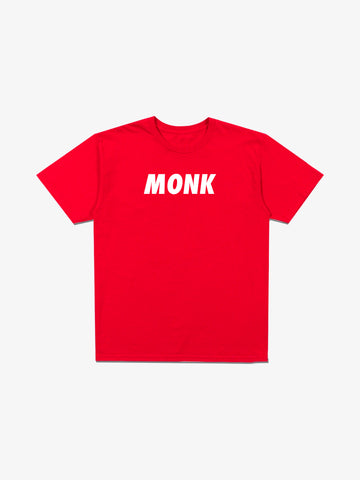 MONK Large Logo Tee - Red