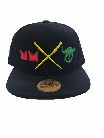 Buss Head Snapback Cap - Red, Green, Gold