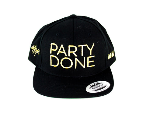 Party Done Snapback Black/Gold