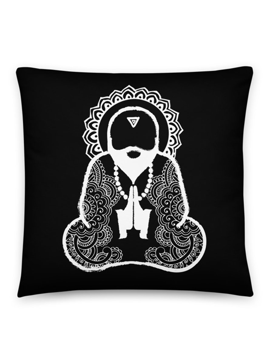 Monk Man Pillow - Black