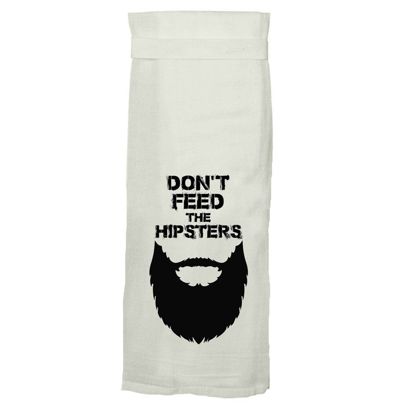 TWISTED WARES | Don't Feed The Hipsters Kitchen Tea Towel