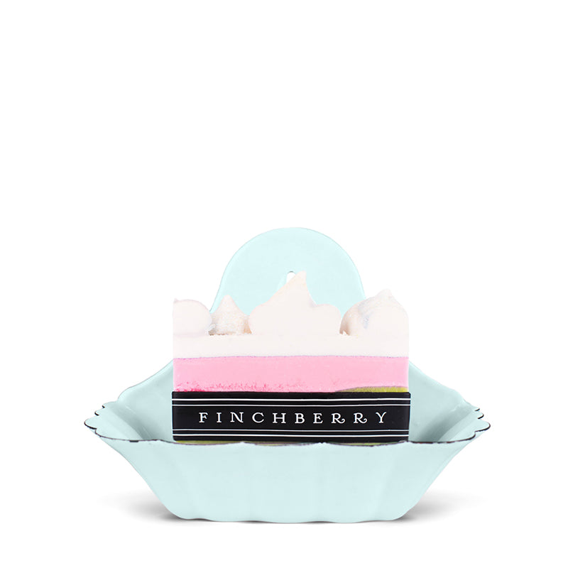 FINCHBERRY | Scalloped Blue Enameled Metal Soap Dish