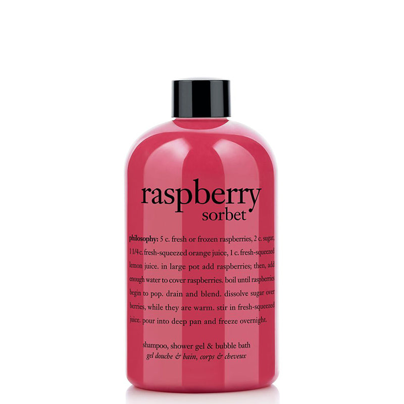PHILOSOPHY | Raspberry Sorbet Shampoo, Shower Gel & Bubble Bath