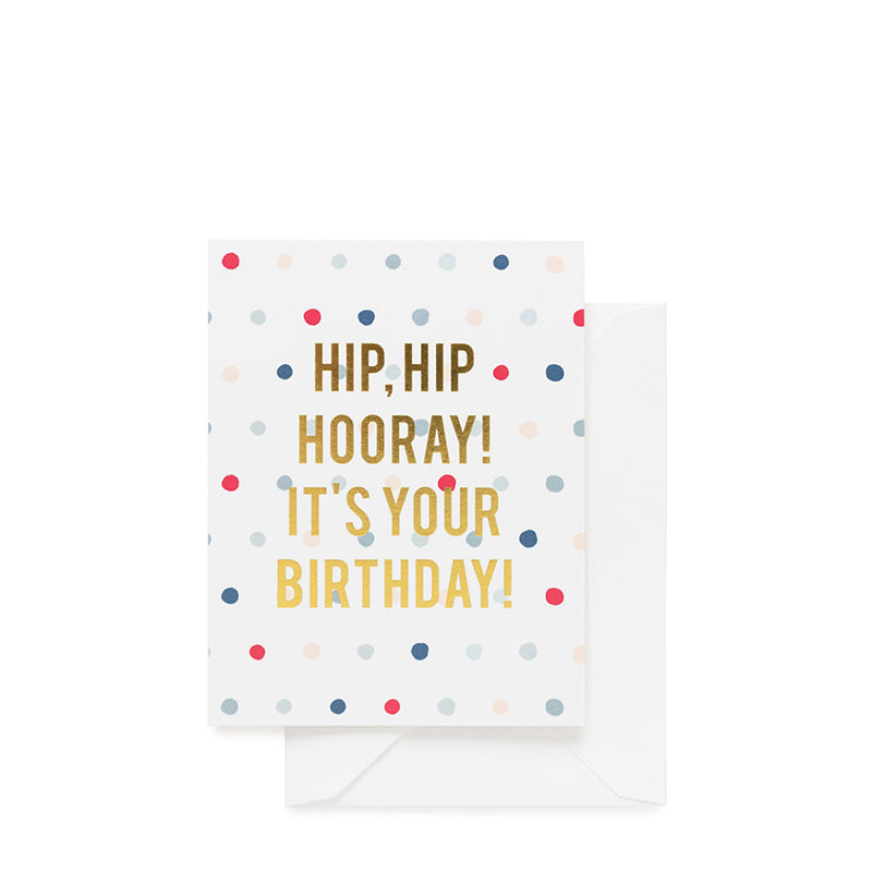 SUGAR PAPER | Hip Hip Hooray! Birthday Card