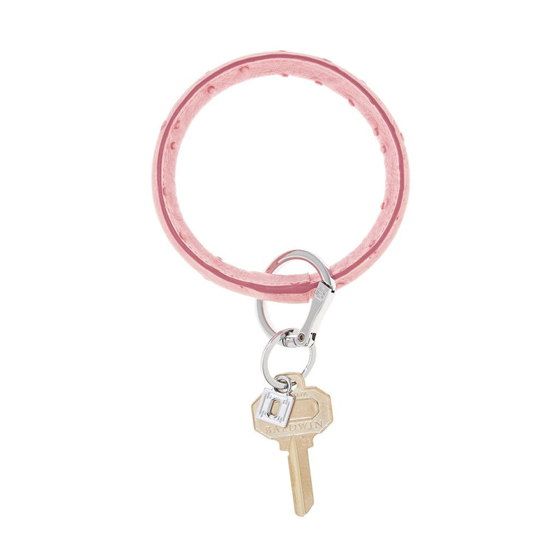 O-VENTURE | Big O Key Ring -  Dusty Rose Ostrich