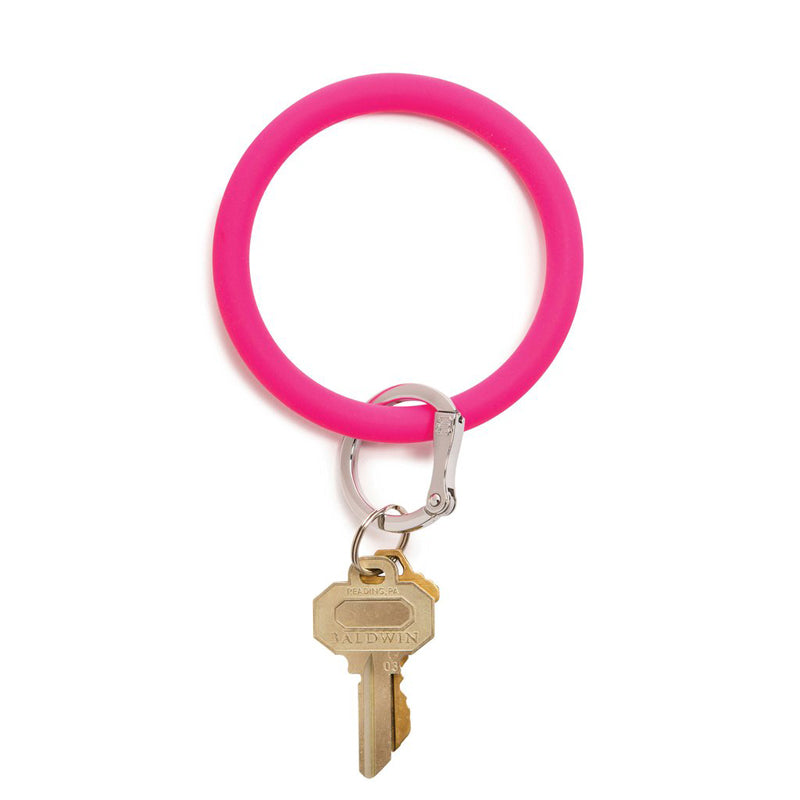 O-VENTURE | Big O Key Ring - Silicone Tickled Pink