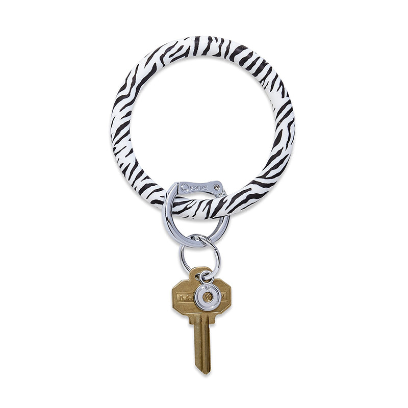 O-VENTURE | Big O Key Ring -  Zebra