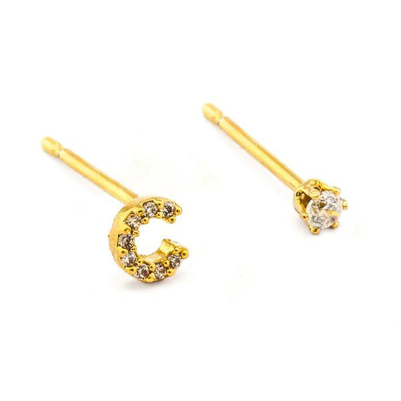 tai-rittichai-pave-initial-mismatched-earrings