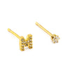 TAI RITTICHAI | Pave Initial Mismatched Earrings