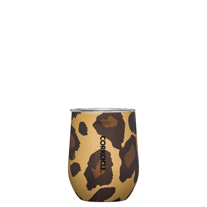 Corkcicle Leopard Stemless Wine